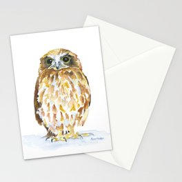 Burrowing Owl Watercolor Stationery Cards
