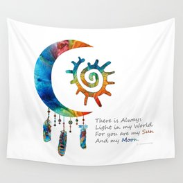 Sun and My Moon Art - Colorful Love Romantic Art - By Sharon Cummings Wall Tapestry
