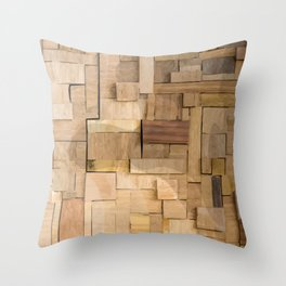 Wood bas-relief Throw Pillow