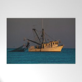 Tucker J fishing boat Welcome Mat