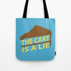 The Cake Is A Lie (Blue Version) Tote Bag