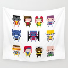 Pixel X-Men Wall Tapestry