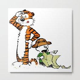 Calvin And Hobbes Rute Metal Print