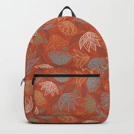 Bohemian Florals in Orange Backpack