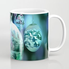 Christmas Bulbs in Blue Coffee Mug
