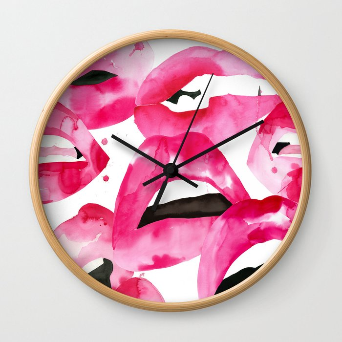Lip Service Wall Clock