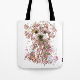 Vintage doggy Bichon frise.DISCOVER Tote Bag