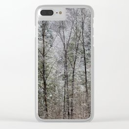 Snow Dusted Trees, No. 1 Clear iPhone Case
