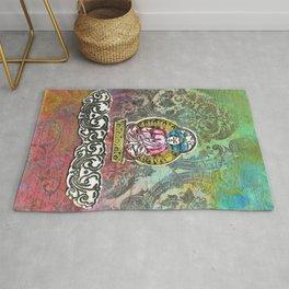 Pink Robed Buddha Rug