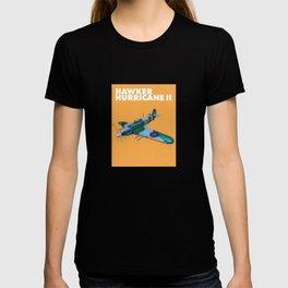 RAF Hawker Hurricane by Dennis Weber of ShreddyStudio T-shirt