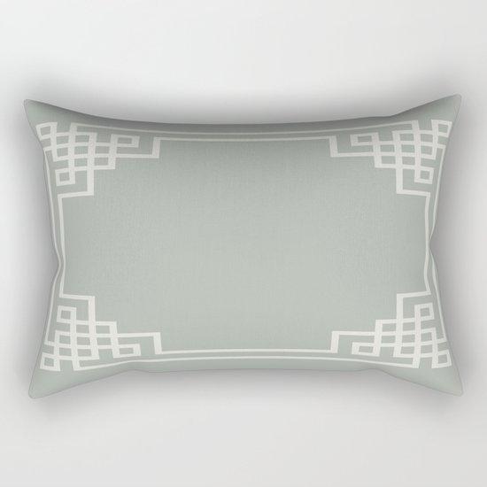 Gray Grey Lattice Rectangular Pillow