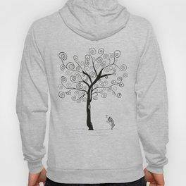 bird, music and tree Hoody