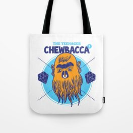 Hipster Chewie Tote Bag