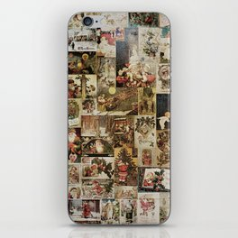 Merry Christmas - Santa angels & friends - collage iPhone Skin