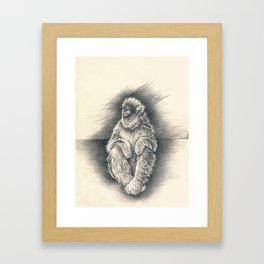 quiet disquiet Framed Art Print