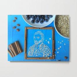 Vincent van Gogh in oatmeal form Metal Print