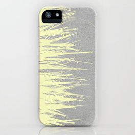 Concrete Fringe Yellow iPhone Case