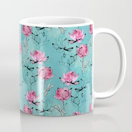 Waterlily dragonfly Coffee Mug