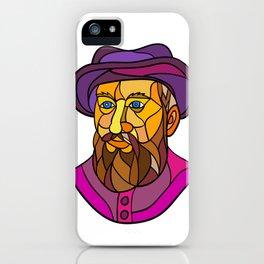 Old Portuguese Explorer Mosaic Color iPhone Case