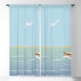 Seascape without sun Blackout Curtain