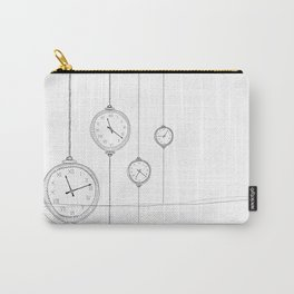 ticking clocks Carry-All Pouch
