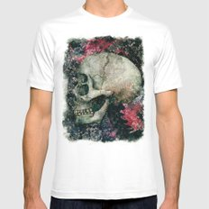 the four eyes skull Mens Fitted Tee White SMALL