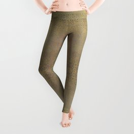 Gold and Silver Leaf Bridget Riley Inspired Pattern Leggings
