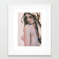 fear Framed Art Prints featuring Fear by scott french studio