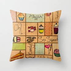 Sweet Things! Throw Pillow