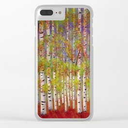Dressed in Fall Colors Clear iPhone Case