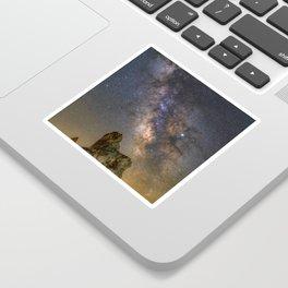 Milky Way over Trona Pinnacles Sticker