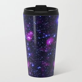 GalAxy Purple Blue Stars Travel Mug