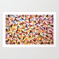 sprinkles Art Prints featuring Sprinkles by Rachel Butler