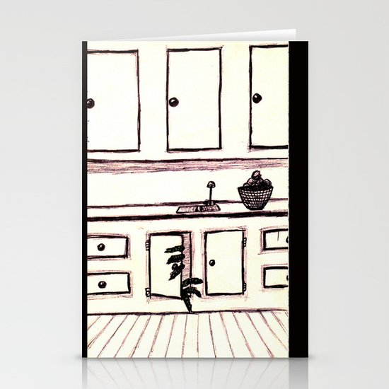 Green Monster Hiding Stationery Cards