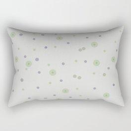 Gentle Green Dots Rectangular Pillow