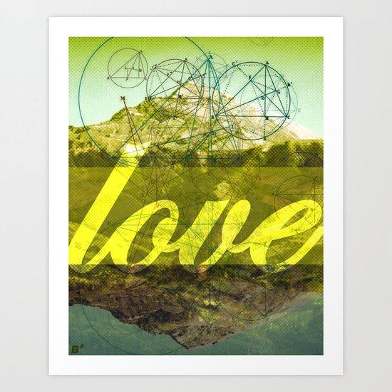 LOVE (1 Corinthians 13:13) Art Print