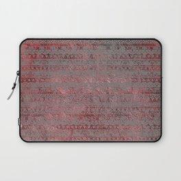 Rose Gray Velvet Foil Laptop Sleeve