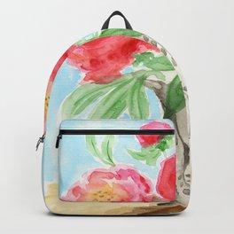 Peonies in Vase Backpack