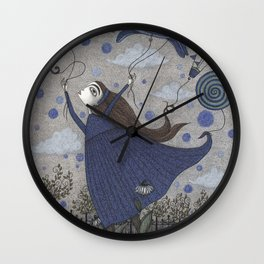 Violetta Dreaming Wall Clock