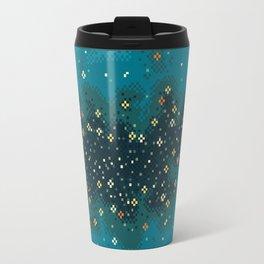 Blue Rift Galaxy (8bit) Travel Mug