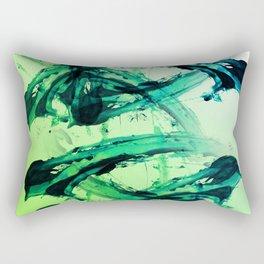 Electric Greens Rectangular Pillow