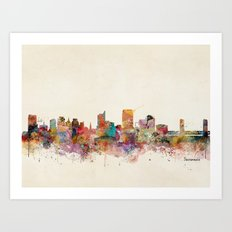 sacramento california skyline Art Print