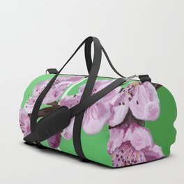 Cherry Blossoms on Greens Duffle Bag