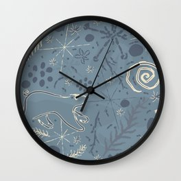 Winter Brush Wall Clock