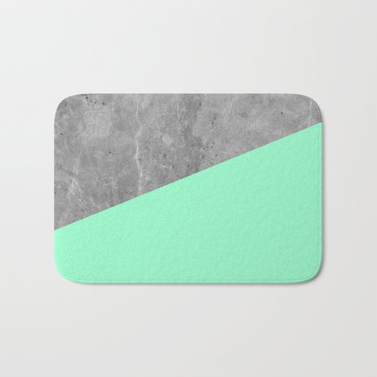Geometry 101 Mint Meringue Bath Mat