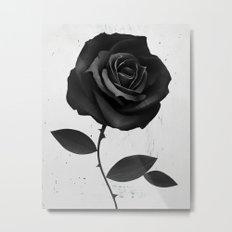Fabric Rose Metal Print