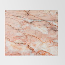 Pink Marble Throw Blanket