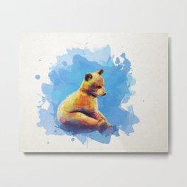 Bear Cub Metal Print