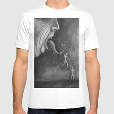 The claim on freedom Mens Fitted Tee White MEDIUM