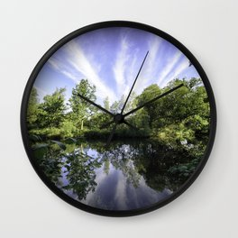 Hatfield Forest Lake England Essex Summer Wall Clock